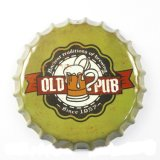 O metal por atacado feito sob encomenda do estanho do vintage assina a decoração da parede do tampão da cerveja