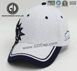 Le coton balayé par support folâtre la casquette de baseball avec la broderie de qualité
