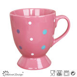 11oz DOT Color Glaze Footed Coffee Mug
