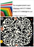 La tarjeta acanalada de la hoja/de la flauta de los PP de la alta calidad/acanaló el fabricante plástico de la tarjeta