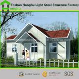 Casa prefabricada del envase de la casa del acero ligero durable para vivir