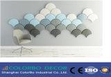 Comitato acustico fonoassorbente decorativo della fibra di poliestere della parete