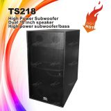 ПРОФЕССИОНАЛЬНОЕ аудиоий Ts218 удваивает коробка диктора Subwoofer 18 дюймов