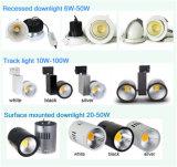 8 인치 50W LED는 CE&RoHS 승인으로 아래로 점화한다