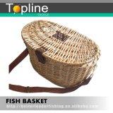 100% [هند-مد] [ويكر] صيد سمك [كريل] سلّة
