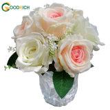 Fiore artificiale della Rosa del singolo gambo