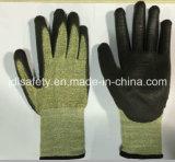 Перчатка безопасности волокна Aramid 18 датчиков с стеклянным волокном (K3054)