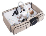 saco do bebê da ucha 9in1 portátil, pacote variável dobrável, patente de dobramento do ombro do punho do jogo da isolação do Anti-Mosquito da base de Bag&Bed do curso Multifunctional do bebê