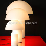Modern Blow Milk White Glass Mushroom Economia de energia LED Desk Lamp for Hotel