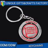 Metall gedrehtes Keychain für fördernde Geschenk-Schlüsselhalter-Ring
