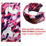 I prodotti dell'OEM hanno personalizzato il foulard multiuso del poliestere promozionale stampato disegno