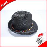 Шлем Панамы бумажного Fedora черноты шлема сторновки бумажный