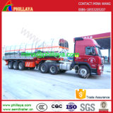 De 3 essieux d'acier inoxydable de réservoir de camion remorque d'essence et d'huile semi