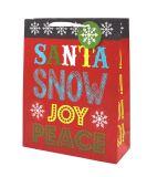 [كرفت] عيد ميلاد المسيح ورقة هبة حقائب مع يبرم مقبض, [ببر بغ], هبة حقيبة, عيد ميلاد المسيح هبة حقائب