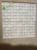 Mosaico de piedra de mármol blanco 3D para el azulejo de la pared / 3D