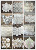 Mosaico Waterjet del foglio marocchino di marmo di Bianco Carrara