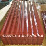 Hoja del material para techos del hierro acanalado de PPGI