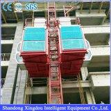 Alzamiento del material de construcción de estante y del piñón