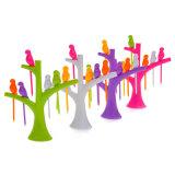 2016의 새로운 식기 세트 창조적인 Tree+Birds 디자인 플라스틱 과일 포크