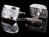 수정같은 커프스 단추가 2017의 새로운 디자인에 의하여 단추 합금 금속 다이아몬드 접경했다