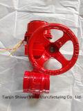 Противостатическая клапан-бабочка конца паза покрытия EPDM с шестерней глиста