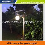 1개의 LED 태양 정원 가로등에서 모두
