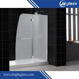 Hartglas-Dusche-Tür mit Edelstahl-Zubehör