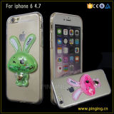 3D Hare TPU Glitter Liquid Phone Case voor iPhone5/6/6plus