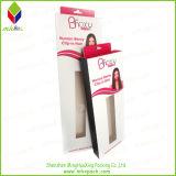 Boîte en carton de empaquetage réutilisée de cheveu pliable avec le petit guichet