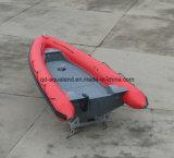 中国Aqualand 19FTの5.8m堅く膨脹可能な救助艇または肋骨のダイビングのボートまたはコーチのボートか軍の哨戒艇(RIB580T)