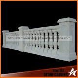 Белый мраморный каменный малый Railing балкона, колонки балкона, штендеры