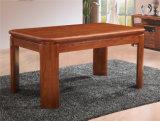 純木の長方形のダイニングテーブル及び椅子