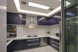 Gabinete de cozinha de madeira lustroso elevado Yb1707031 da venda quente nova do projeto