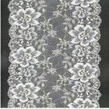 Merletto elastico del tricot di Spandex di nylon Composation