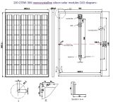 36V 220W 225W, 230W, 235W Monocrystalline Solar Panel PV Module con Ce Approved