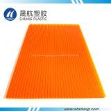 Het oranje Holle Afdekken van het Polycarbonaat van de Kleur voor Decoratie