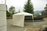 Im Freiengazebo-Garten-Kabinendach knallen oben Zelteinfachen hohen Gazebo