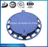 En124 Circuleか円形の延性があるか鋳鉄の砂型で作るマンホールカバー(C250/D400/E600/F900)