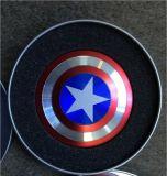 Unruhe-Spinner des LED-Metallkapitän-Amerika
