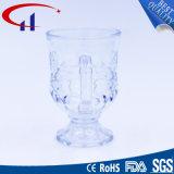 copo de vidro barato da cerveja da fábrica 90ml com mão (CHM8402)