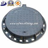 En124 A15 B125 C250 D400 runder Einsteigeloch-Deckel des bearbeitetes Eisen-Einsteigelochs