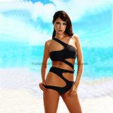 Schwarze einteilige Dame-reizvoller Bikini