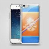 pour cas de couverture de téléphone mobile de densité d'impression transparente de Samsung d'iPhone l'anti