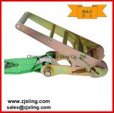 """4 """"x 20 'Red W / ganchos planos de carga de la correa de trinquete"""