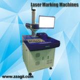 Портативный гравировальный станок лазера, малый лазер волокна для пластмассы металла