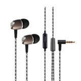 Metaal Getelegrafeerde Oortelefoon 3.5mm Hefboom Earbuds met het Pakket van de Douane