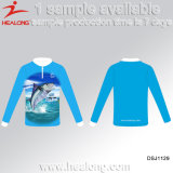 Healong Dye Sublimation Colorful Fishing Camisetas