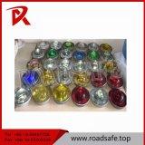 交通安全の防水緩和された円形のガラス道のスタッド