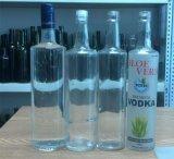 700ml botella vacía de whisky de cristal redondo