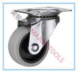 1-3 roda contínua plástica do rodízio da polegada